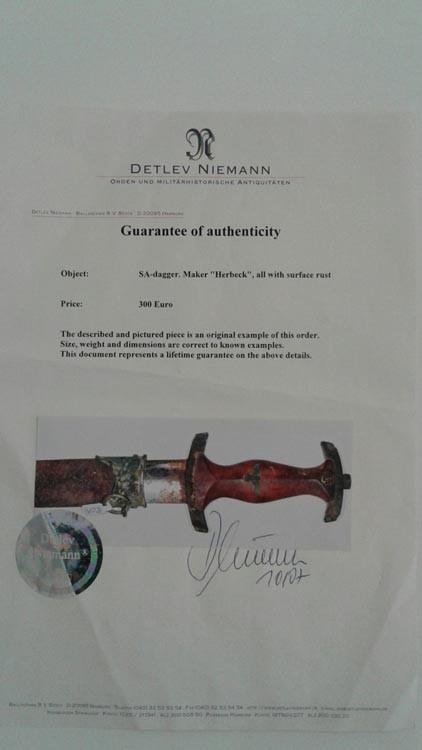 Сертификат Нимана Третий Рейх