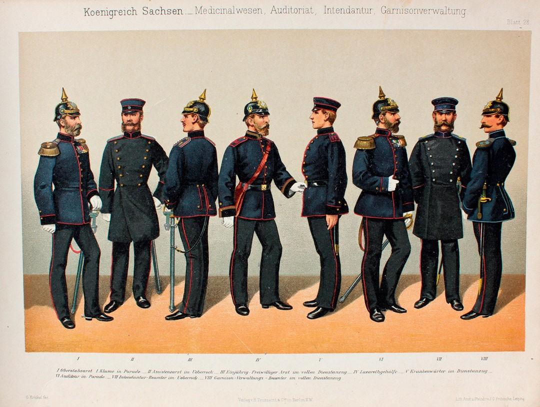 Изображение с каталога Внешнего видасаксонских военных офицеров